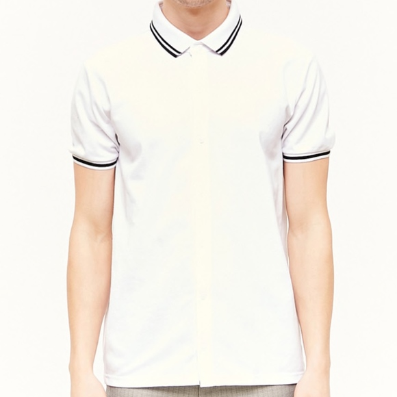 Forever 21 Other - Forever 21 Mens White Polo Style T Shirt Tee